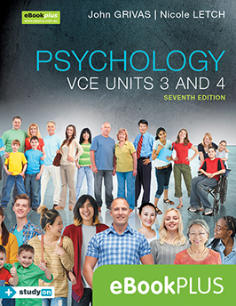 Psychology VCE Units 3 and 4 7e eBookPLUS + studyON