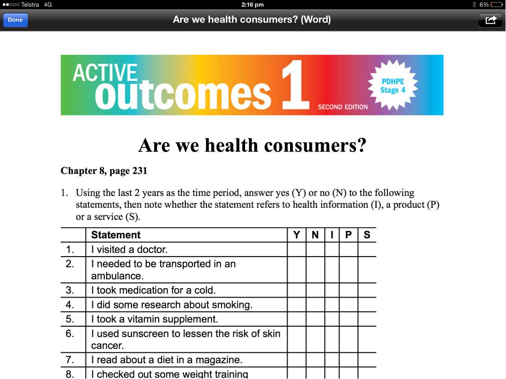 pdhpe revision questions Sample work pdhpe year 11: better health for individuals assessment   thinking and analysis in written responses to three key questions (45 minutes in  class task)  students have been studying pdhpe preliminary core 1 and have .