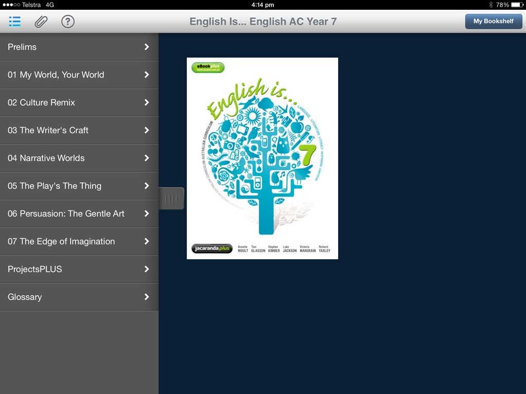 ebook main screen