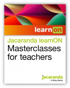 Jacaranda learnON Masterclasses for teachers