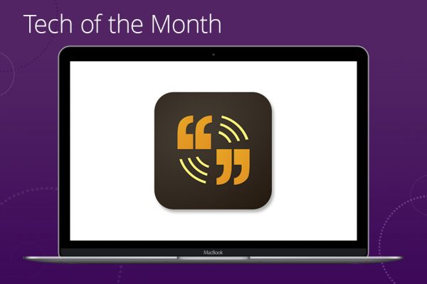 Tech of the Month Adobe Voice