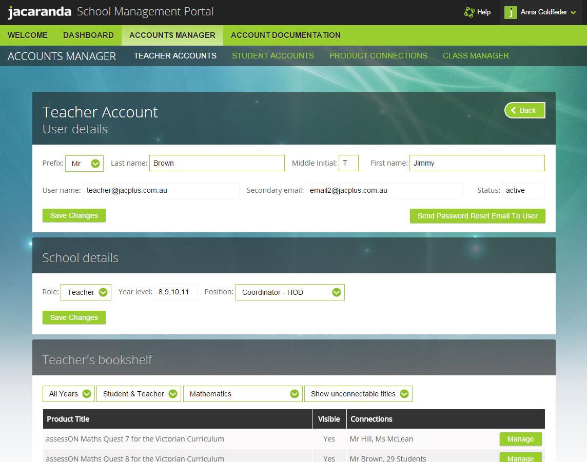 Jacaranda School Management Portal