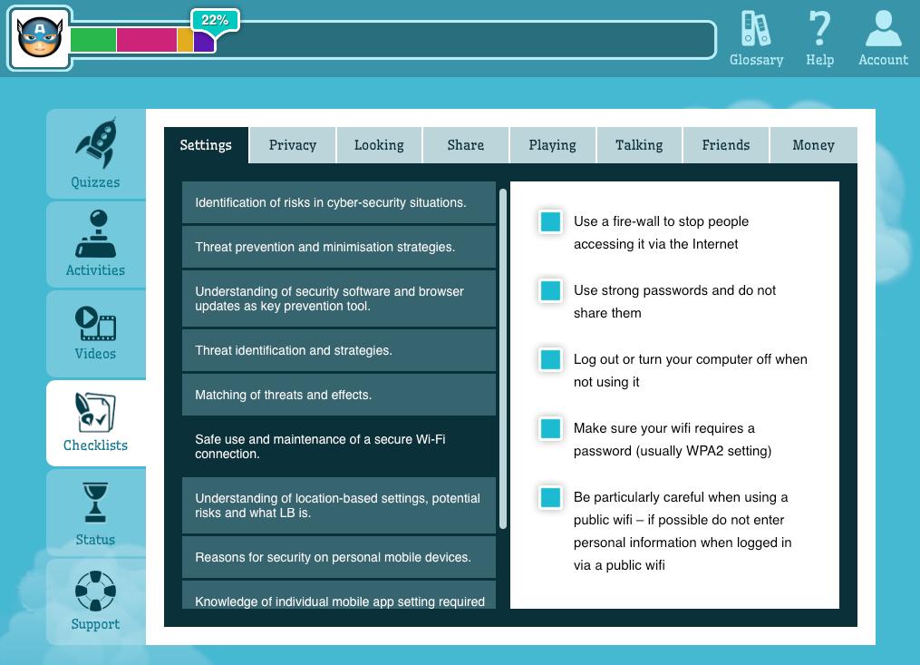 Jacaranda Digital Citizenship - checklists