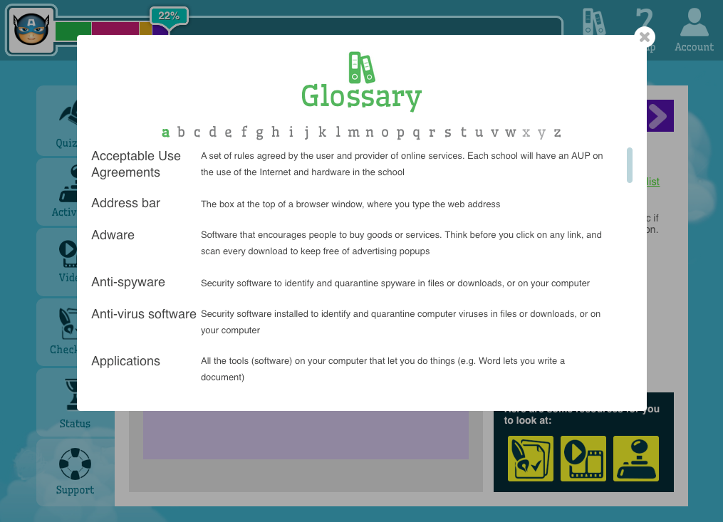 Jacaranda Digital Citizenship - glossary