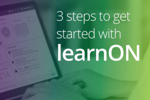 3 steps to get started with learnON
