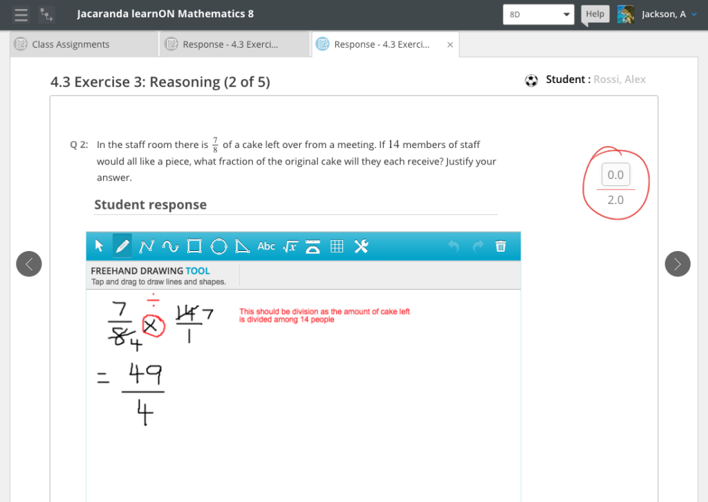 learnON premium_Mathematics_teachers_provide_personalised_feedback