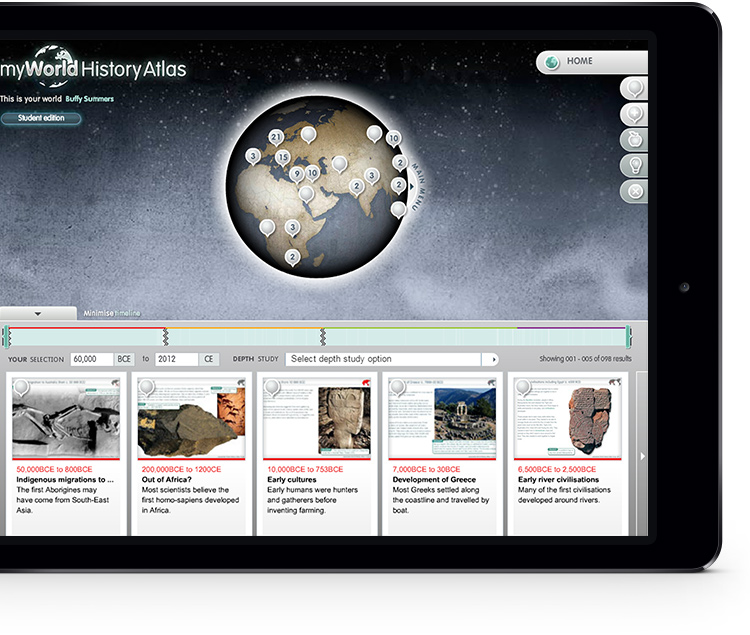 myWorld History Atlas ipad