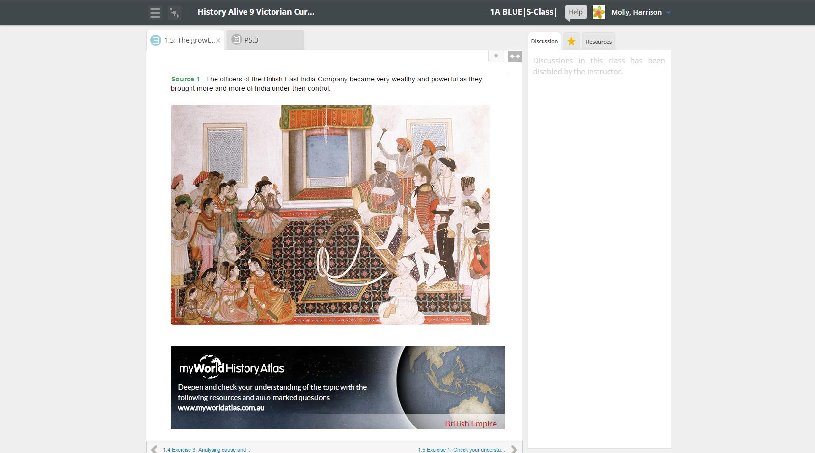 learnON History myWorld Atlas link