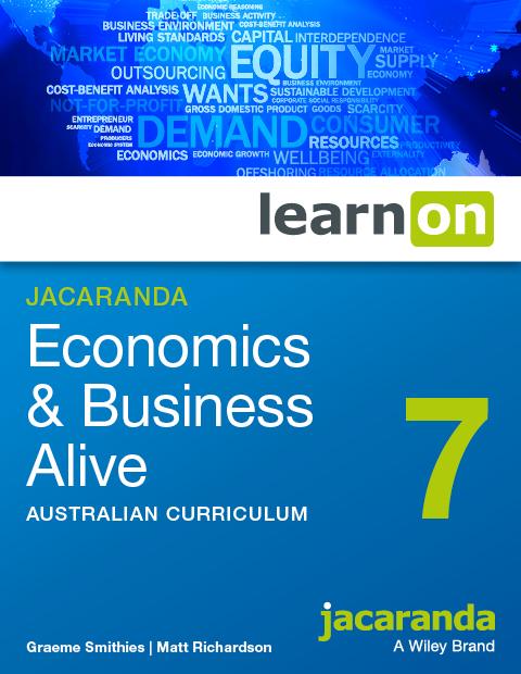Jacaranda Economics and Business Alive 7 Australian Curriculum