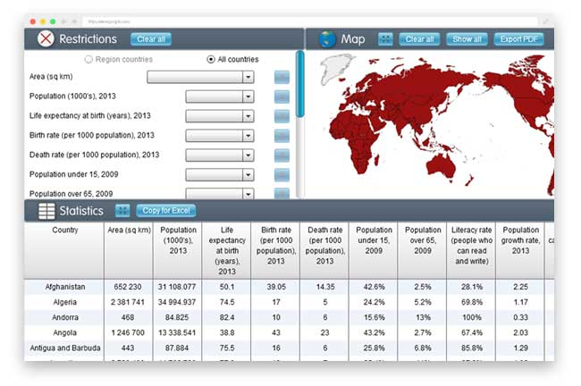 Jacaranda atlas screen statistical mapper1
