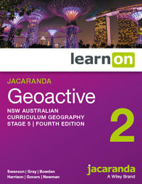 Jacaranda geoactive NSW australian curriculum geography 2 stage 5 fourth edition