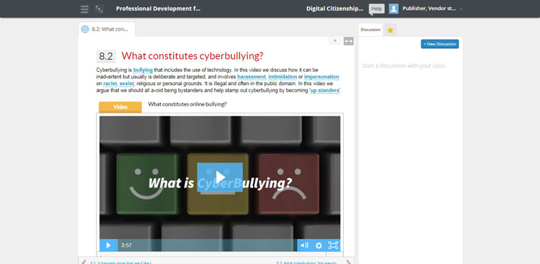 digital citizenship pd for teachers course videos