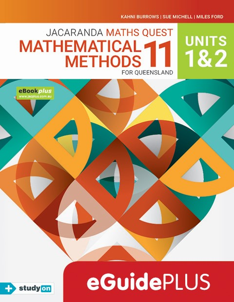Maths Quest 11 Mathematical Methods Unit 1 2 eGuidePLUS