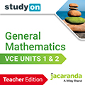 studyON General Mathematics VCE Units 1&2 teacher edition