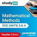 studyON Mathematical Methods VCE Units 3&4 Teacher Edition