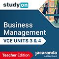 studyON Business Management VCE Units 3&4 Teacher Edition