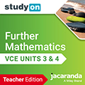 studyOn Further Mathematics VCE Units 3&4 Teacher Edition