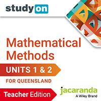studyON Maths Quest 11 Mathematical Methods Units 1&2 QLD Teacher Edition