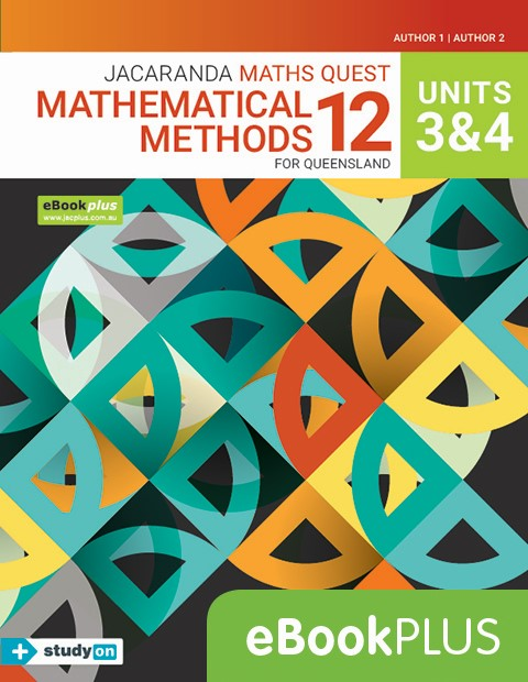 Maths Quest 12 Queensland Mathematical Methods Units 3 4 eBookPLUS + studyON