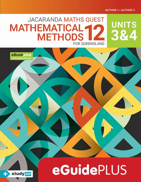 Maths Quest 12 Queensland Mathematical Methods Units 3 4 eGuidePLUS