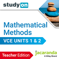 Jacaranda studyON Mathematical Methods VCE Units 1&2 Teach Edition