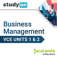 studyON Key Concepts in VCE Business Management Units 1&2 5e