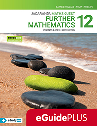 Maths Quest 12 Further Mathematics VCE Units 3&4 6e eGuidePLUS