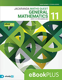 Jacaranda Maths Quest 11 General Mathematics Units 1&2 QLD eBookPLUS
