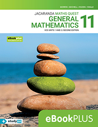 Maths Quest 11 General Mathematics VCE Units 1&2 2e eBookPLUS