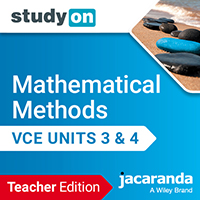 studyON Mathematical Methods VCE Units 3&4 Teacher Edition