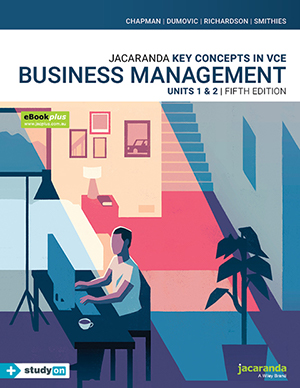 Jacaranda Key Concepts in VCE Business Management Units 1&2 5e eBookPLUS & Print + studyON
