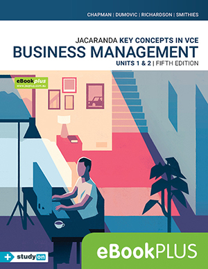 Jacaranda Key Concepts in VCE Business Management Units 1&2 5e eBookPLUS + studyON