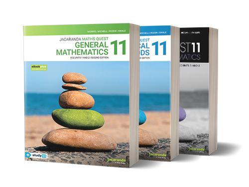 General Mathematics, Mathematical Methods, Specialist Mathematics 11 Textbooks