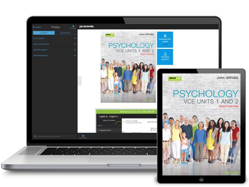 Psychology VCE Units 1 & 2 eBookPLUS