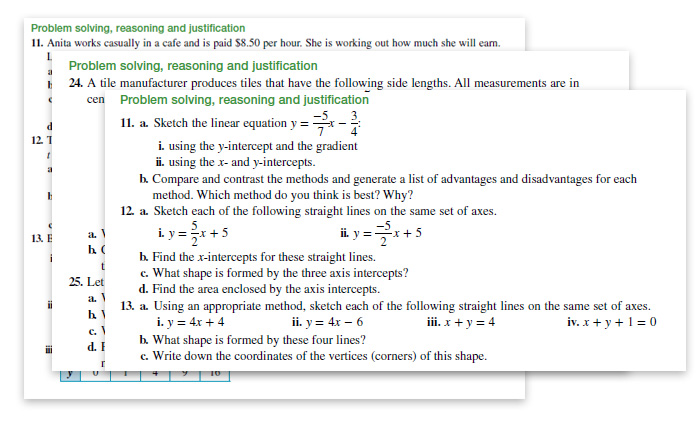 Screengrabs NSW Maths Standards 11 Accessibility