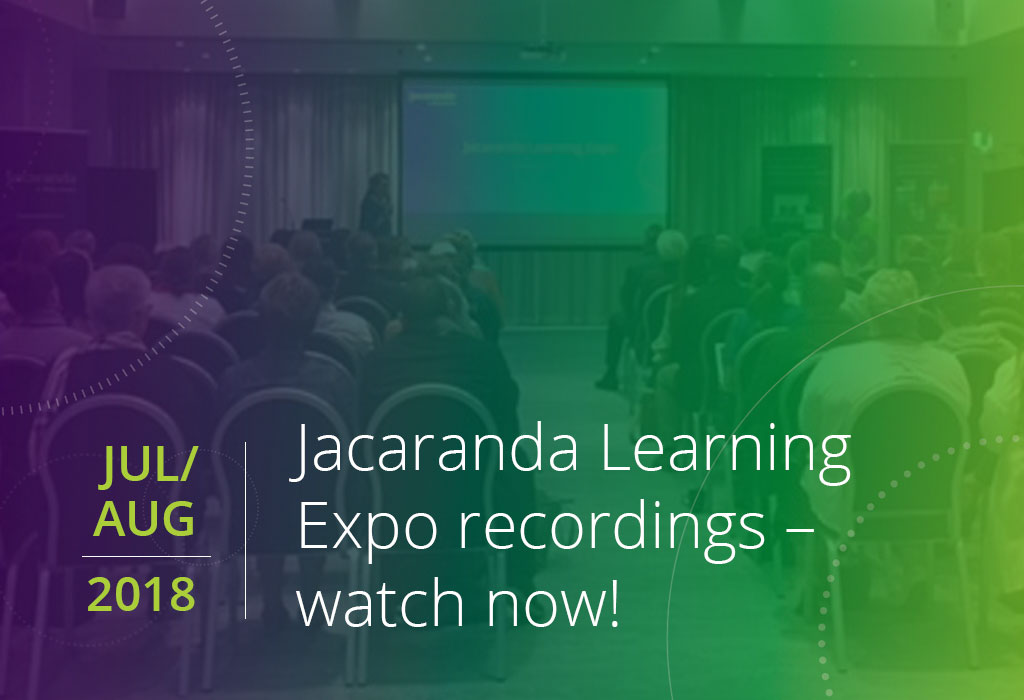 Jacaranda Learning Expo recordings watch now