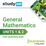 General Mathetmatics Units 1&2 for Queensland studyON