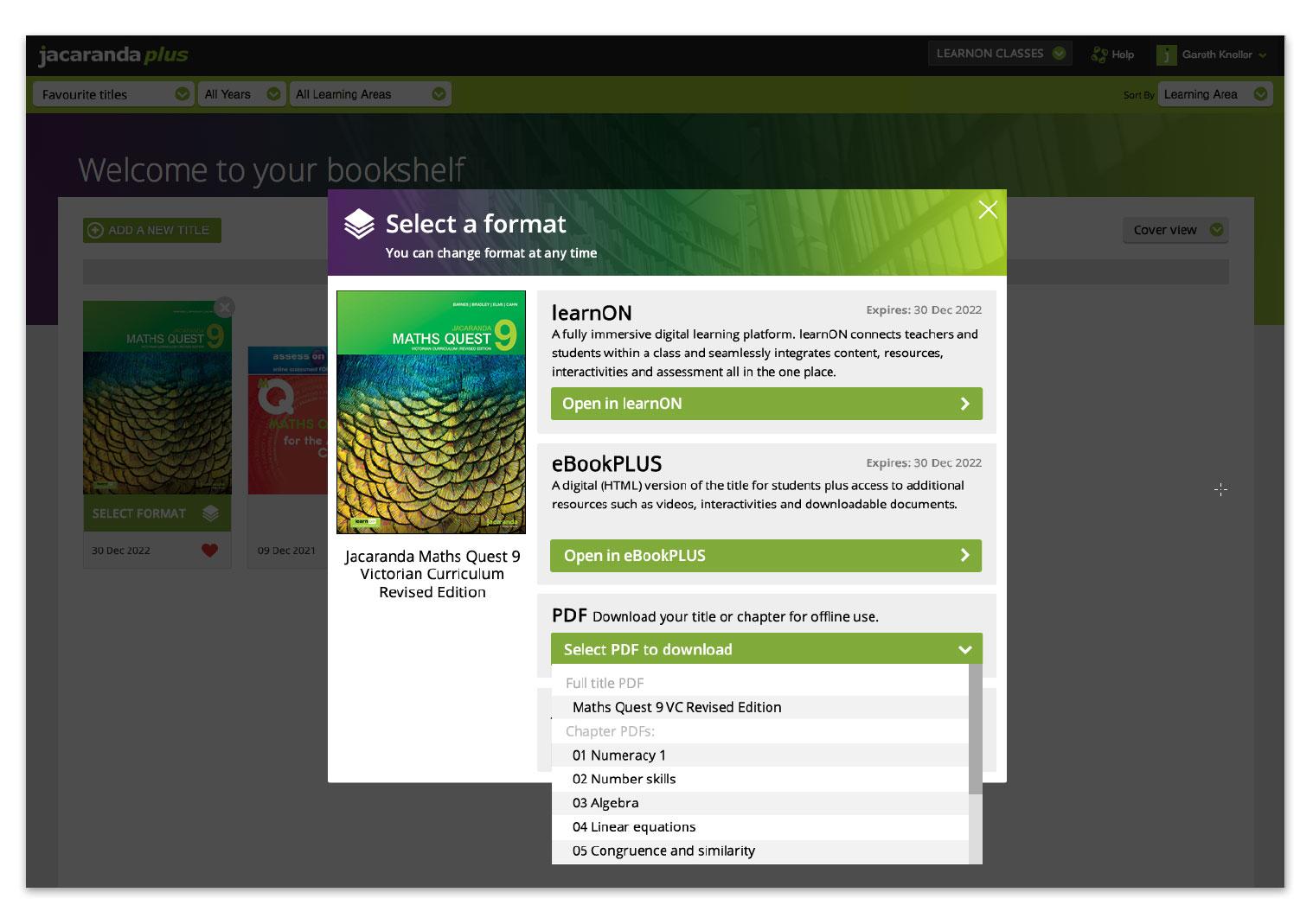 Jacaranda Bookshelf PDF