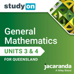 General Mathematics Units 3 & 4 for Queensland studyON