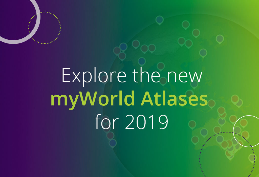 explore the new myWorld Atalses for 2019
