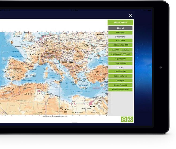 myWorld Atlas ipad