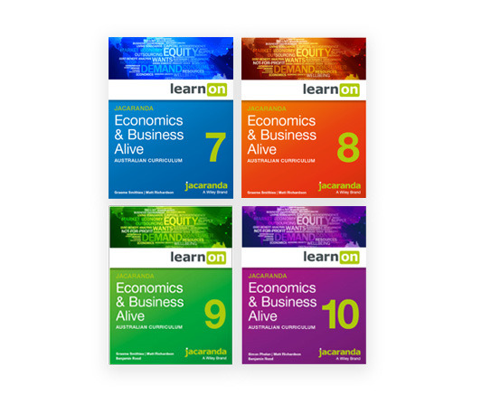 Jacaranda Economics and Business Alive VC 7-10 series