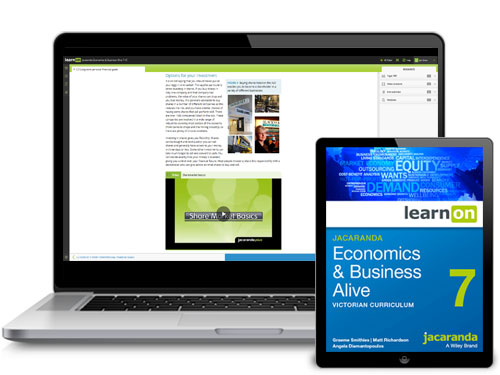 Jacaranda Victorian Curriculum Economics and Business Alive Devices
