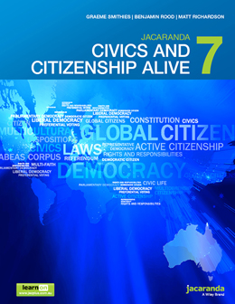 Jacaranda Civics and Citizenship 7 cover