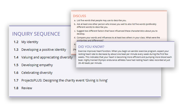 HPE Screenshots (inquiry based learning)