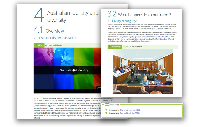 Screengrabs for Civics and Citizenship (Integrated media)