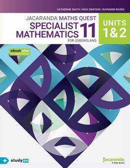 Jacaranda Maths Quest 11 Specialist Maths Units 1 & 2 for QLD
