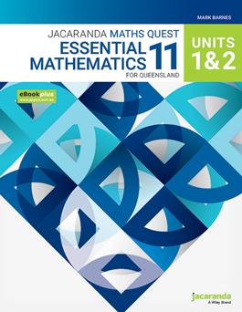Jacaranda Maths Quest 11 Essential Maths Units 1 & 2 for QLD