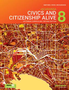 Jacaranda Civics and Citizenship Alive 8 VC 2E