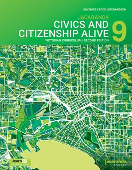Jacaranda Civics and Citizenship Alive 9 VC 2E